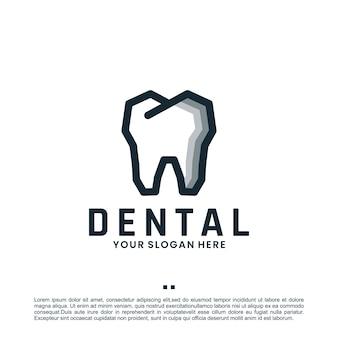 Inspiração dental, de cuidados e de design de logotipo