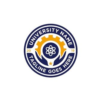 Inspiração do design do emblema da escola emblema
