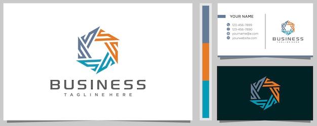 Inspiração do design do logotipo da comunidade creative letter s com cartão de visita