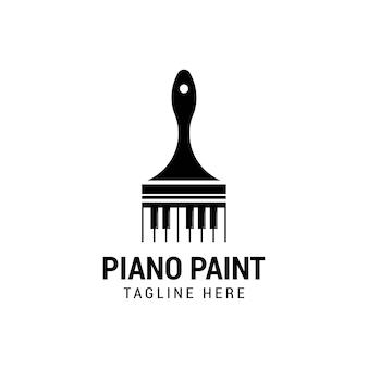 Inspiração do design do logotipo do conceito de pintura para piano