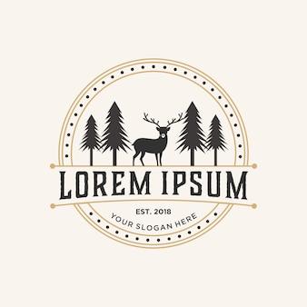 Inspiração do design do logotipo dos animais selvagens,