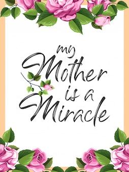 Inspiração do dia das mães e citações de tipografia motivacional