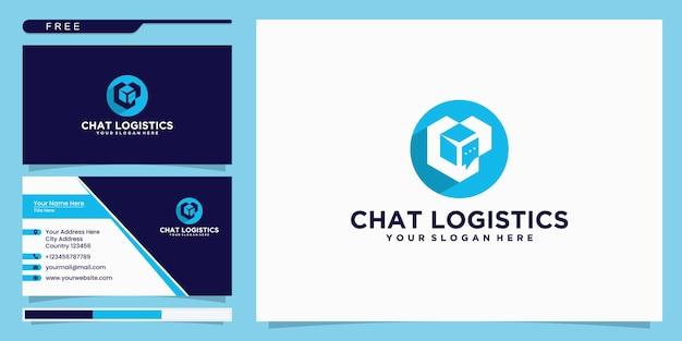 Inspiração do logotipo da caixa de bate-papo e design de cartão de visita