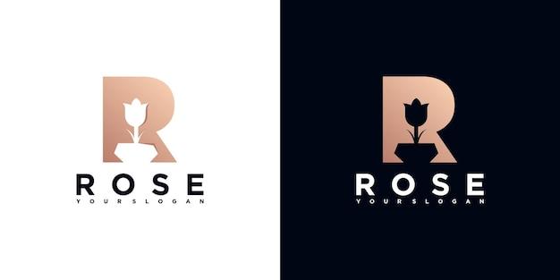 Inspiração do logotipo da flor, para negócios