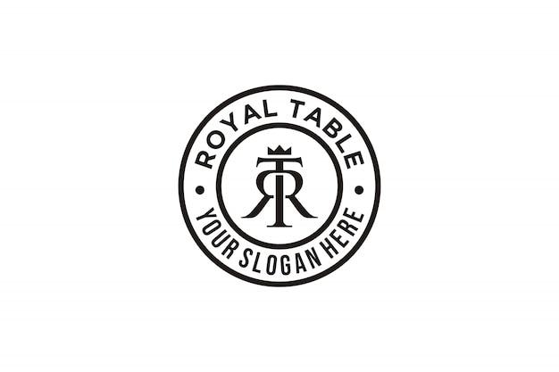 Inspiração do logotipo da letra inicial tr