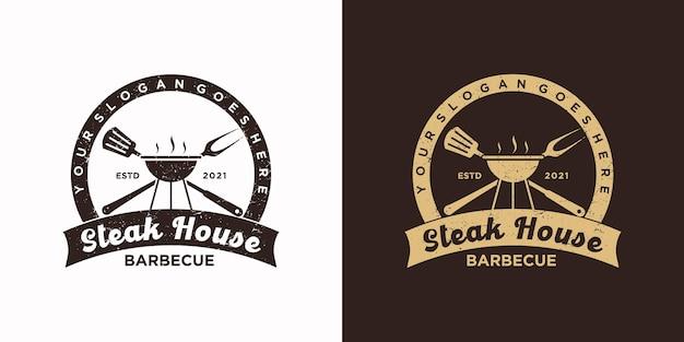 Inspiração do logotipo de churrascaria vintage