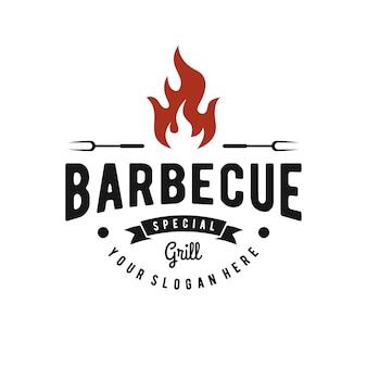 Inspiração do logotipo de churrasco
