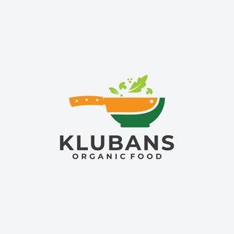 Inspiração do logotipo de faca e tigela