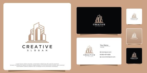 Inspiração do logotipo do conceito de edifício de arquitetura moderna