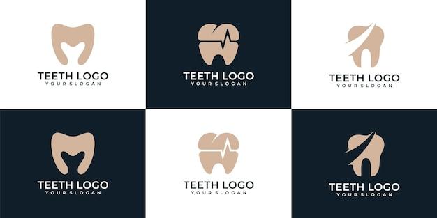 Inspiração do logotipo do dentista de dente médico