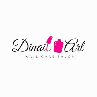 Inspiração do logotipo do salão de manicure