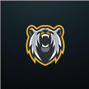 Inspiração do logotipo do urso esports