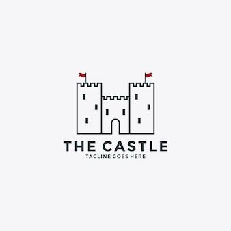 Inspiração do modelo de design de logotipo da castle para o seu negócio