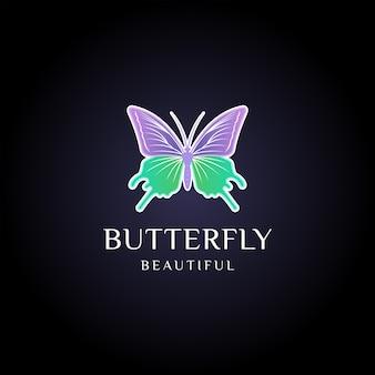 Inspiração do modelo do logotipo da borboleta