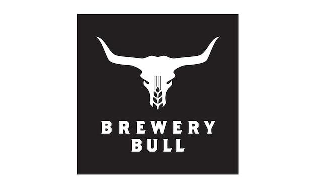 Inspiração do projeto do logotipo da cervejaria de bull