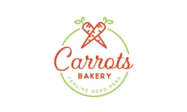 Inspiração do projeto do logotipo da padaria das cenouras