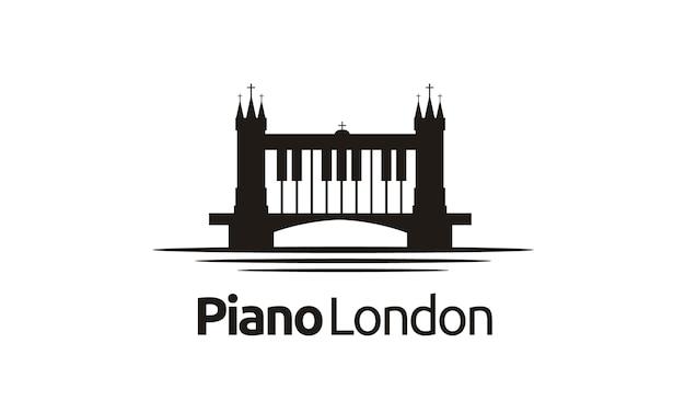Inspiração do projeto do logotipo de londres / ponte piano