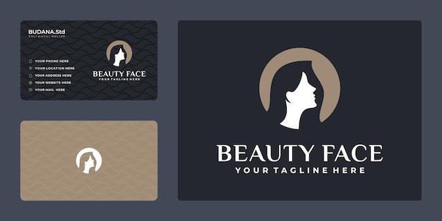 Inspiração feminina no design de logotipo de salão de cabeleireiro