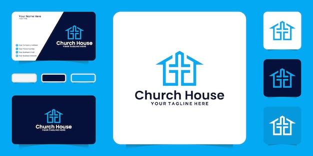 Inspiração no design da casa da igreja e inspiração no cartão de visita