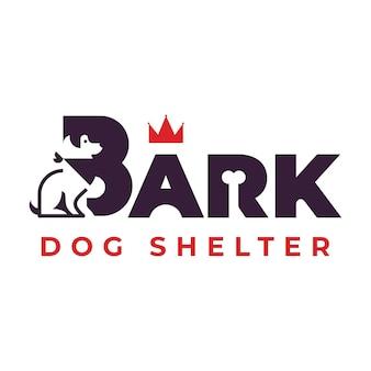 Inspiração no design de logotipo de abrigo premium para cães