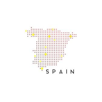 Inspiração no design do logotipo do mapa pontilhado da espanha