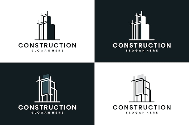 Inspiração para construção, construção, design de logotipo