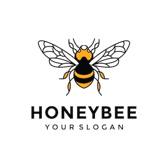 Inspiração para design de logotipo de abelha de mel