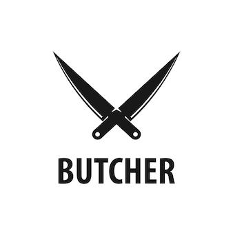 Inspiração para design de logotipo de açougueiro vetorial