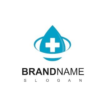 Inspiração para design de logotipo de água saudável