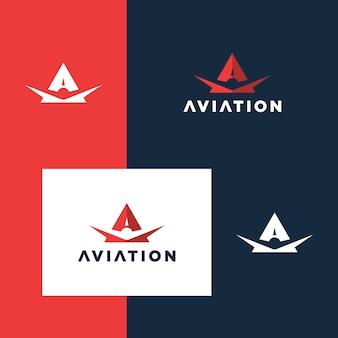 Inspiração para design de logotipo de aviação de vôo