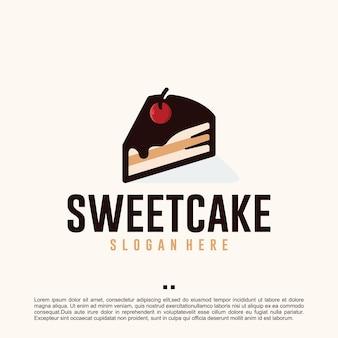 Inspiração para design de logotipo de bolo doce