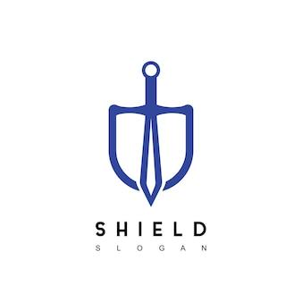 Inspiração para design de logotipo de espada escudo