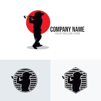 Inspiração para design de logotipo de esporte de golfe infantil