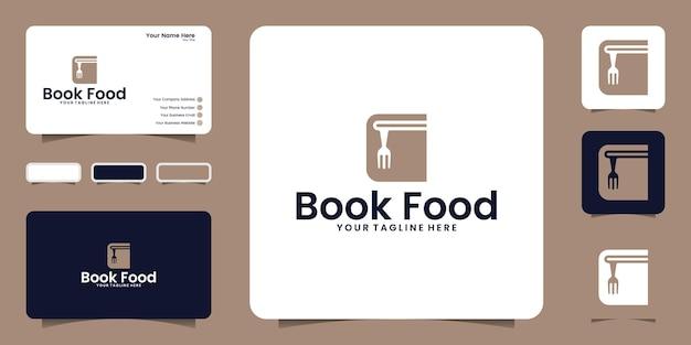 Inspiração para design de logotipo de livro de alimentos e inspiração para cartão de visita