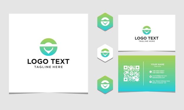 Inspiração para design de logotipo de localização de círculo para empresa e cartão de visita premium vector
