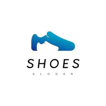Inspiração para design de logotipos de sapatos para crianças e pais