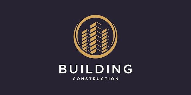Inspiração para o design de logotipo de construção civil