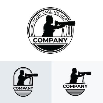 Inspiração para o design de logotipo de fotógrafo profissional