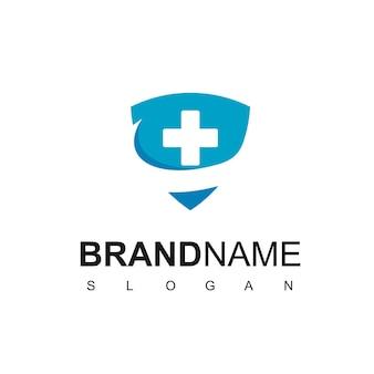 Inspiração para o design de logotipo de proteção à saúde