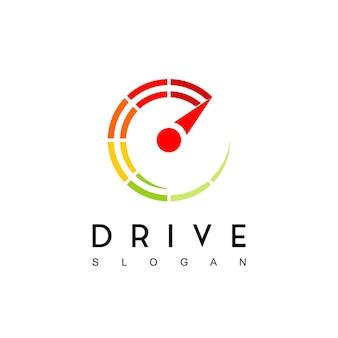 Inspiração para o design de logotipo do top speed drive