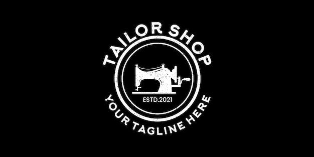 Inspiração para o design de logotipo vintage da loja de costura