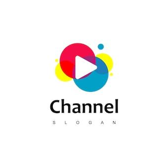 Inspiração para o design de logotipos coloridos de tv
