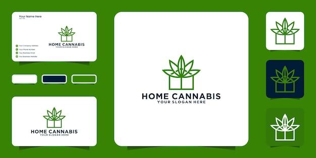 Inspiração para o design do logotipo da casa cannabis e inspiração para cartão de visita