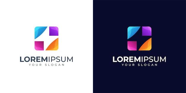 Inspiração para o design do logotipo da energia colorida