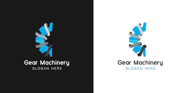 Inspiração para o design do logotipo da engrenagem da letra c