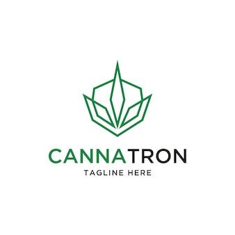 Inspiração para o design do logotipo da folha de cannabis