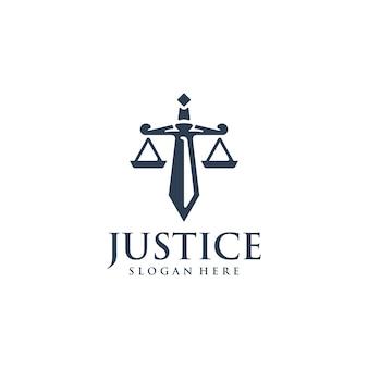 Inspiração para o design do logotipo da justiça