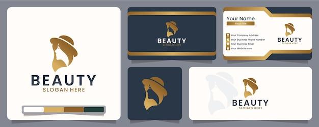 Inspiração para o design do logotipo da mulher da beleza
