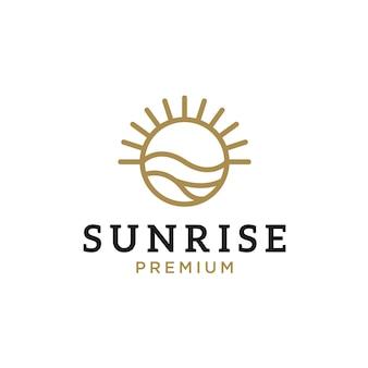 Inspiração para o design do logotipo da sunrise beach