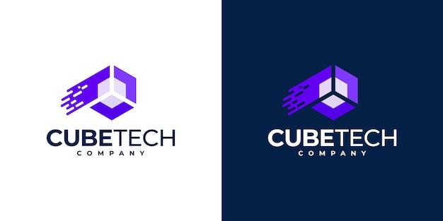 Inspiração para o design do logotipo da tecnologia creative cube,
